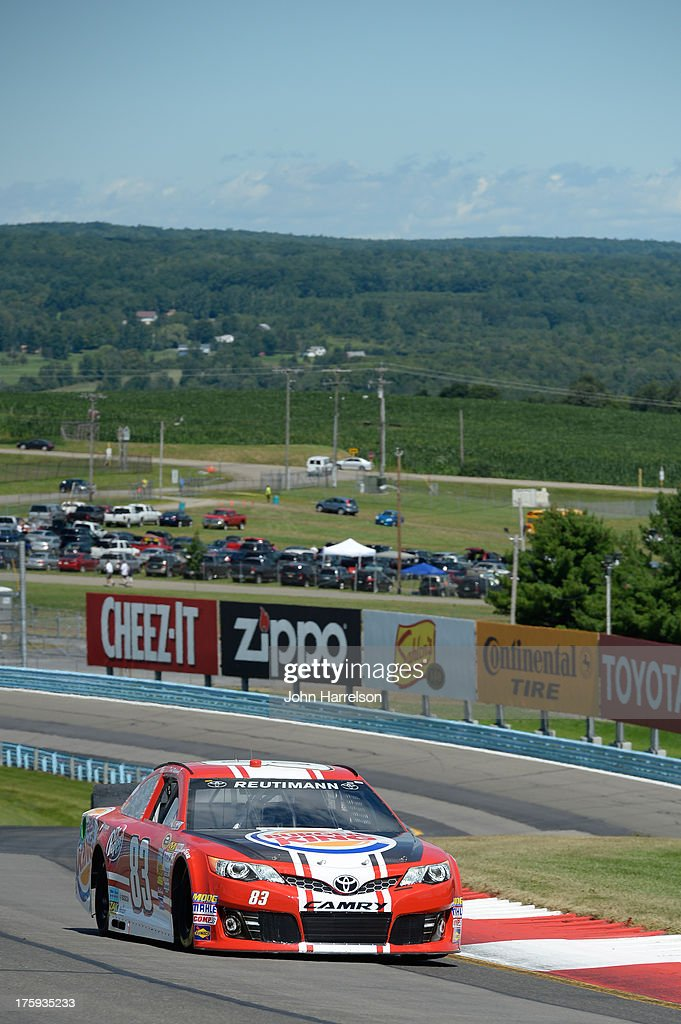 David Reutimann, driver of the #83 Burger King/Dr. Pepper Toyota, qualifies for the NASCAR Sprint Cup Series Cheez-It 355 at The Glen at Watkins Glen International on August 10, 2013 in Watkins Glen, New York.