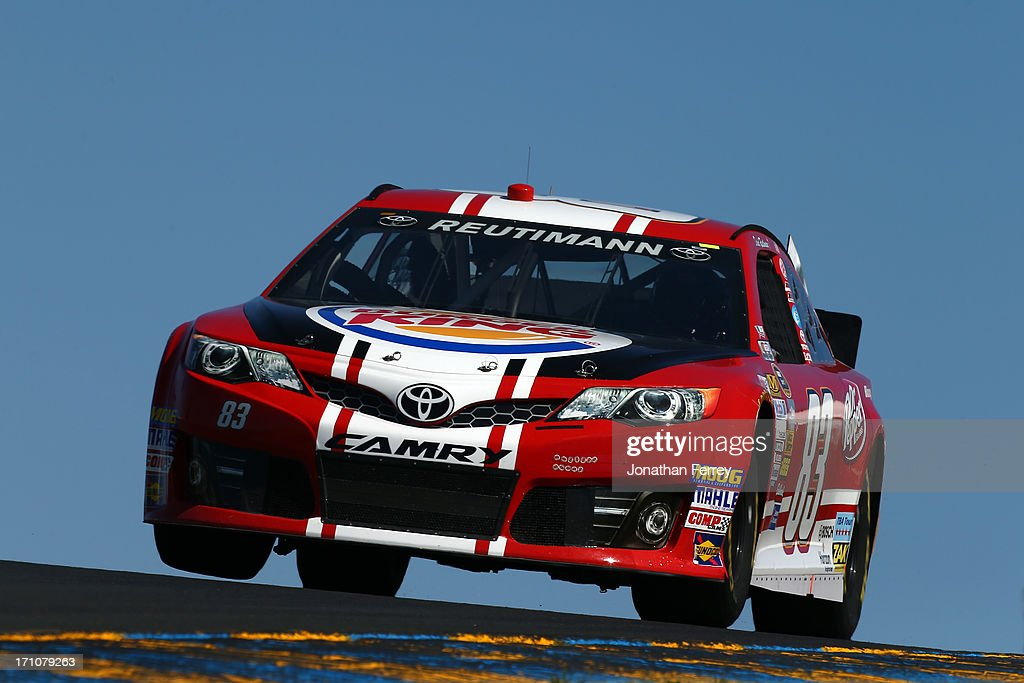 David Reutimann drives the #83 Burger King/Dr Pepper Toyota during practice for the NASCAR Sprint Cup Series Toyota/Save Mart 350 at Sonoma Raceway on June 21, 2013 in Sonoma, California.