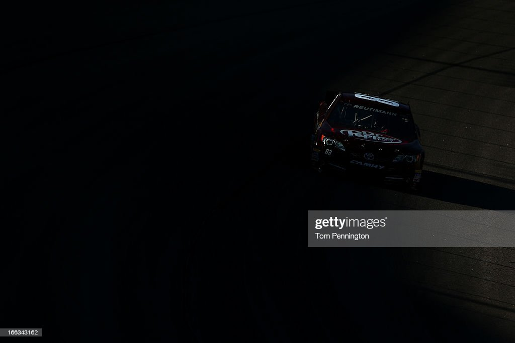 David Reutimann drives the #83 Burger King/Dr Pepper Toyota during NASCAR Sprint Cup Series Gen-6 Testing at Texas Motor Speedway on April 11, 2013 in Fort Worth, Texas.