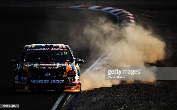 David Reynolds drives the Erebus Motorsport Penrith Racing Holden Commodore VF during practice ahead of the Winton round of V8 SUpercars at Winton...