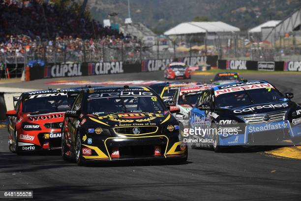 David Reynolds drives the Erebus Motorsport Penrith Racing Holden Commodore VF during race 2 for the Clipsal 500 which is part of the Supercars...
