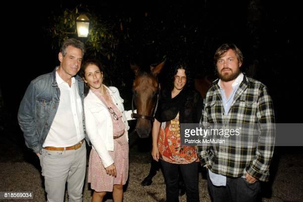 David Richenthal Dini von Mueffling Elizabeth Lyons Fredrik Carstrom attend the Hamptons Screening of Disney's 'Secretariat' at Goosecreek on August...