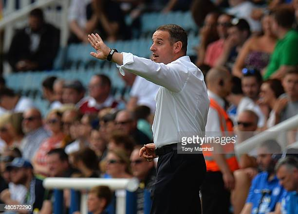 David Robertson Manager of Peterborough United during the Pre Season Friendly match between Peterborough United and West Ham United at London Road...