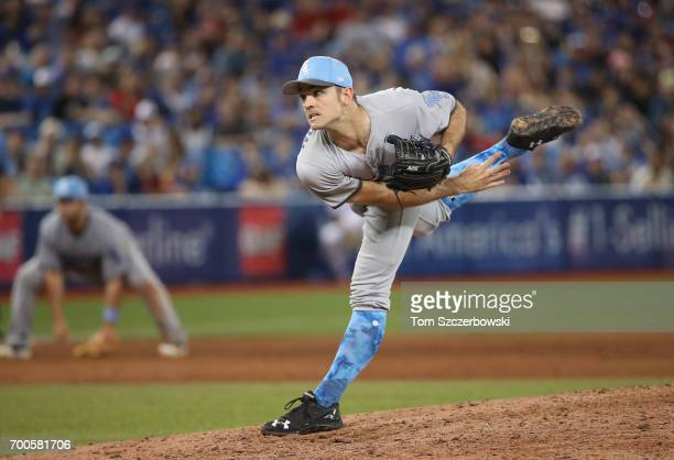 David Robertson of the Chicago White Sox delivers a pitch in the ninth inning during MLB game action against the Toronto Blue Jays at Rogers Centre...