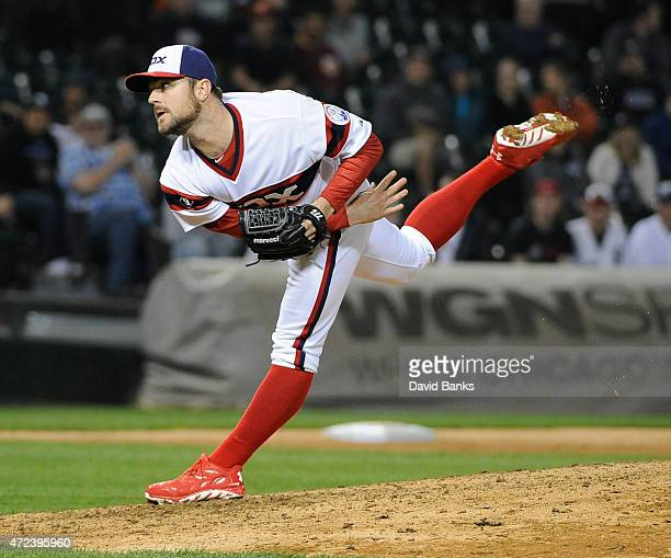 David Robertson of the Chicago White Sox pitches against the Detroit Tigers during the ninth inning on May 6 2015 at US Cellular Field in Chicago...
