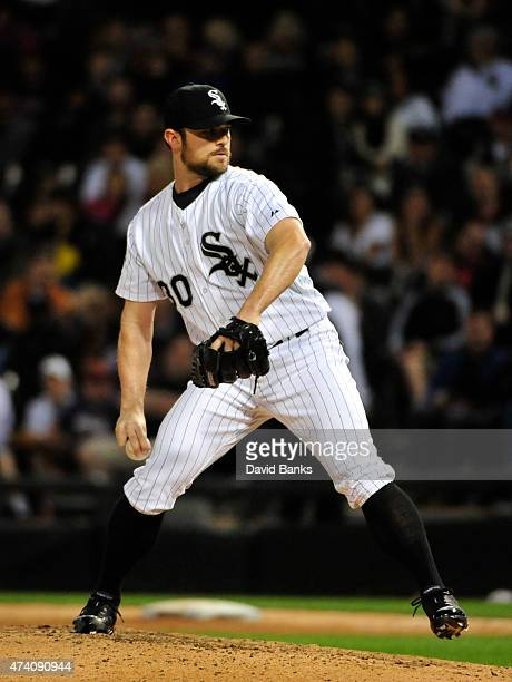 David Robertson of the Chicago White Sox pitches against the Cleveland Indians on May 18 2015 at U S Cellular Field in Chicago Illinois The White Sox...