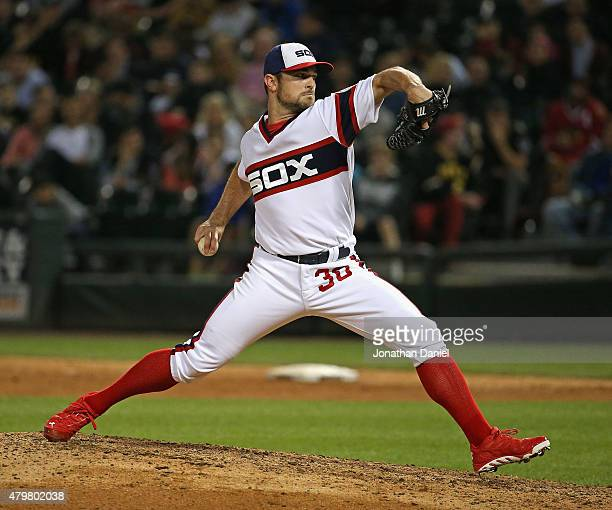 David Robertson of the Chicago White Sox pitches against the Pittsburgh Pirates at US Cellular Field on June 17 2015 in Chicago Illinois The Pirates...