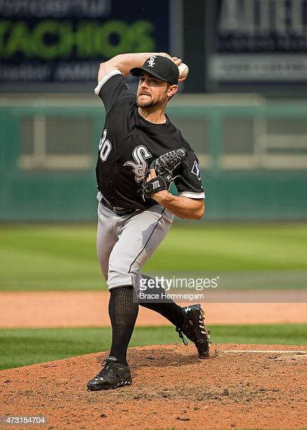 David Robertson of the Chicago White Sox pitches against the Minnesota Twins on May 3 2015 at Target Field in Minneapolis Minnesota The Twins...