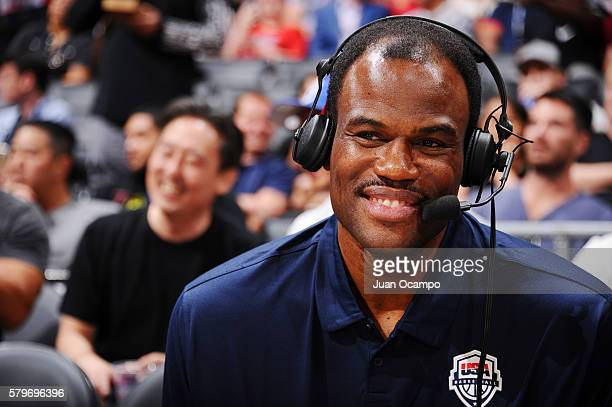 David Robinson attends the game between the USA Basketball Men's National Team and China on July 24 2016 at STAPLES Center in Los Angeles California...