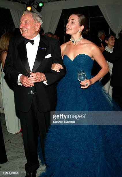 David Rockefeller and Miranda Kaiser during The 37th Annual Party in the Garden Honoring David Rockefeller's 90th Birthday at The Museum of Modern...