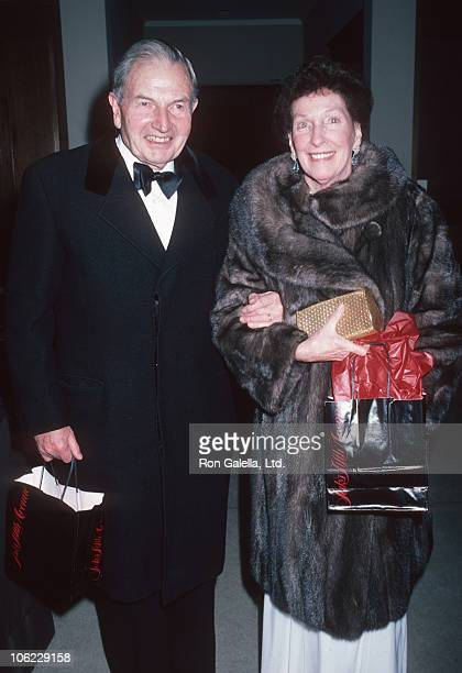 David Rockefeller and wife during Dinner Dance for the National Academy of Arts at Waldorf Hotel in New York City New York United States