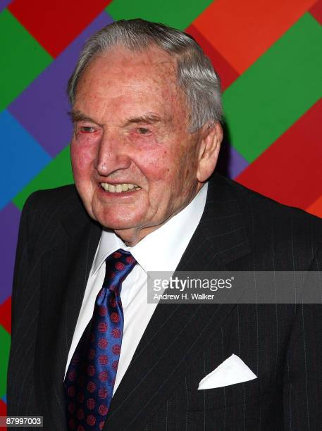 David Rockefeller attends MoMA's 41st Annual Party in the Garden at The Museum of Modern Art on May 26 2009 in New York City