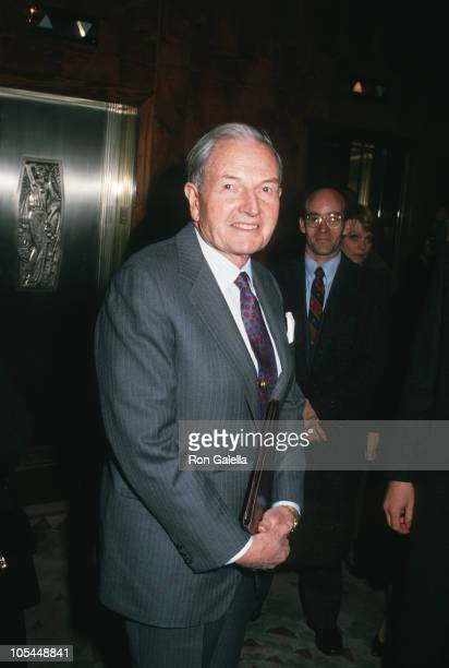 David Rockefeller during GOP Luncheon March 23 2005 at Waldorf Astoria in New York City New York United States