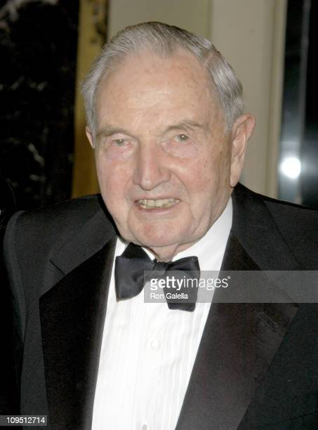 David Rockefeller during National Committee on American Foreign Policy Morgenthau Kennan Awards Dinner honoring Maurice R Greenberg and Ambassador...