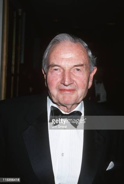 David Rockefeller during Nelson Public Service Award Dinner at The Waldorf Astoria in New York City New York United States