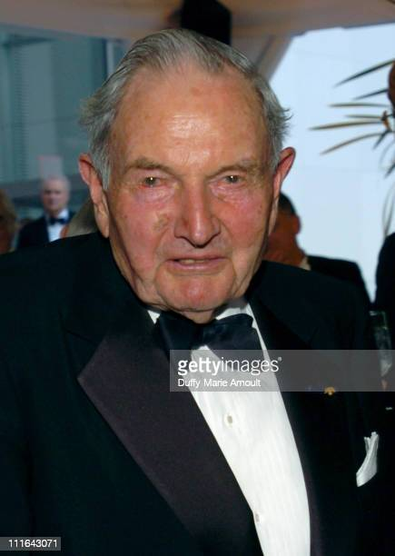 David Rockefeller during The 37th Annual Party in the Garden Honoring David Rockefeller's 90th Birthday at The Abbey Aldrich Rockefeller Sculpture...