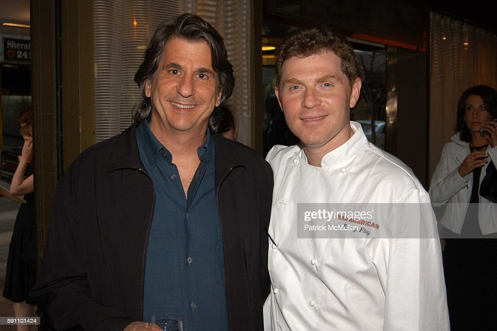 David Rockwell and Bobby Flay attend Opening Party for Bobby Flay's New Restaurant Bar Americain at Americain on April 18 2005 in New York City