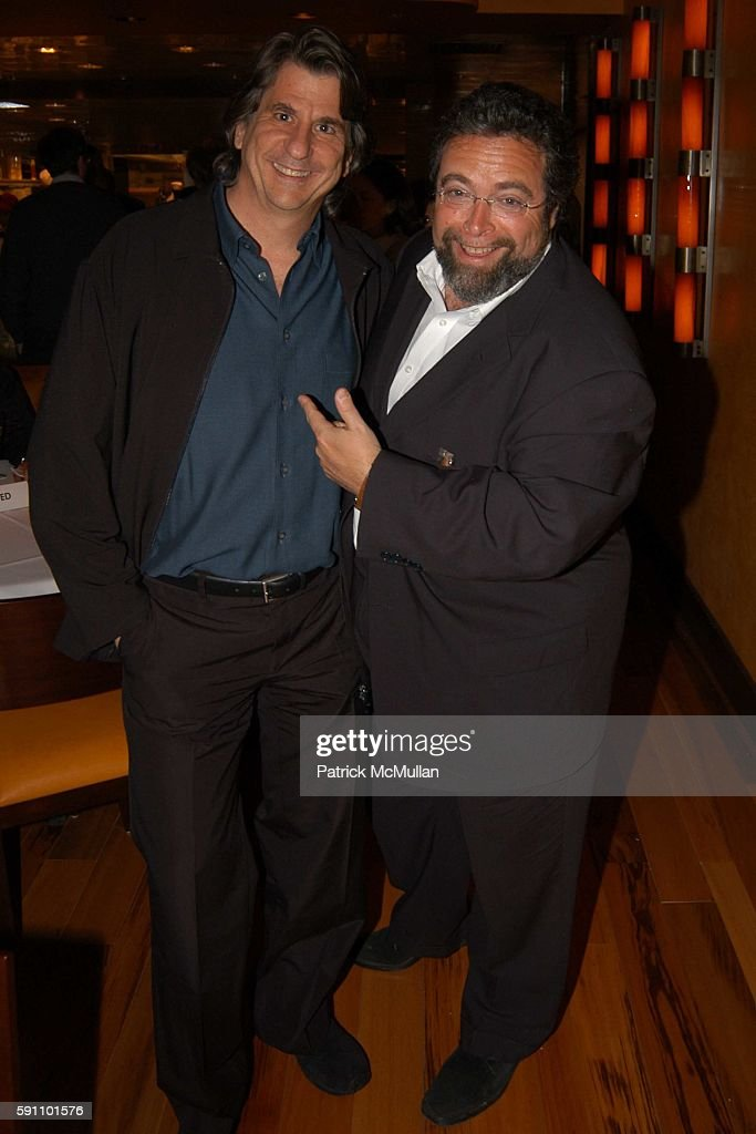David Rockwell and Drew Nieporent attend Opening Party for Bobby Flay's New Restaurant Bar Americain at Americain on April 18 2005 in New York City