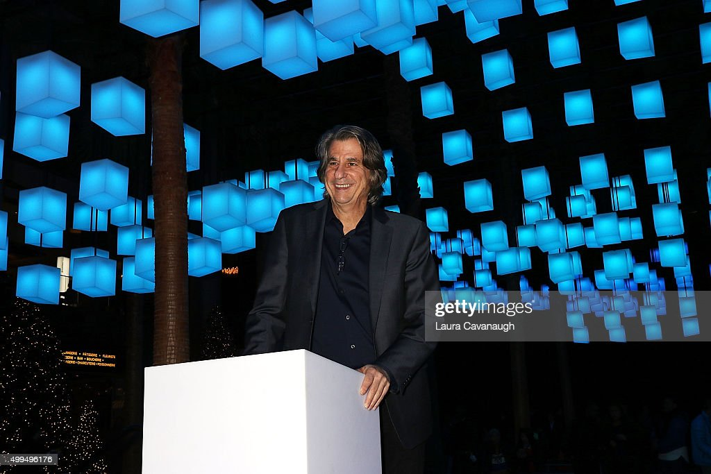 David Rockwell attends Luminaries Lighting Ceremony and Preview with Meghan Trainor at Brookfield Place Winter Garden on December 1 2015 in New York...
