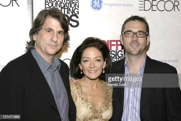 David Rockwell Margaret Russell and Ted Allen during The Eighth Annual Elle Decor's 'Dining by Design' at Hammerstein Ballroom in New York City New...