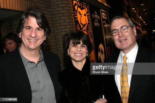 David Rockwell Margo Lion and Todd Haimes during Monty Python's 'Spamalot' Opening Night on Broadway Arrivals at The Shubert Theater in New York City...