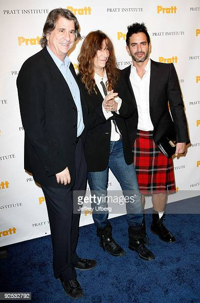 David Rockwell Singer Patti Smith and Designer Marc Jacobs attend the 2009 Pratt Institute Legends Scholarship Benefit at 7 World Trade Center on...