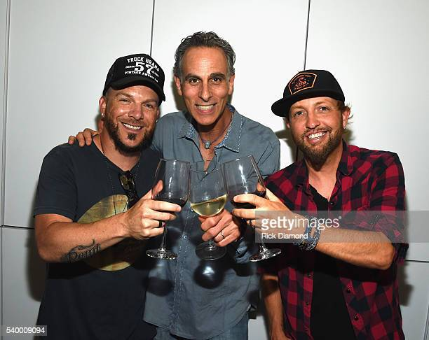 David Ross CEO reviver music joins Chris Lucas and Preston Brust LOCASH 'The Fighters' Listening Party at White Avenue Studio on June 13 2016 in...