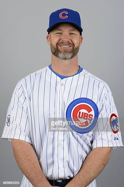 David Ross of the Chicago Cubs poses during Photo Day on Monday March 2 2015 at Sloan Park in Mesa Arizona