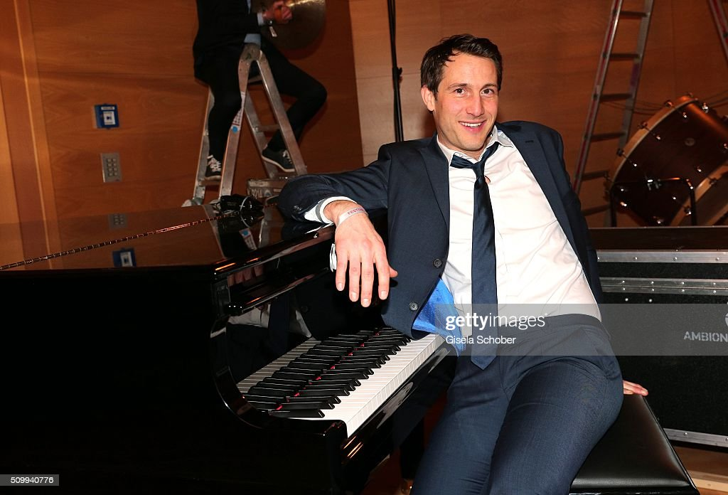 David Rott at the piano during the Bunte and BMW Festival Night 2016 during the 66th Berlinale International Film Festival Berlin on February 12, 2016 in Berlin, Germany.