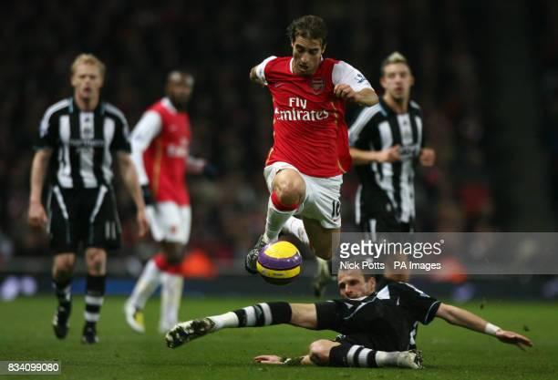 David Rozehnal Newcastle United and Mathieu Flamini Arsenal battle for the ball