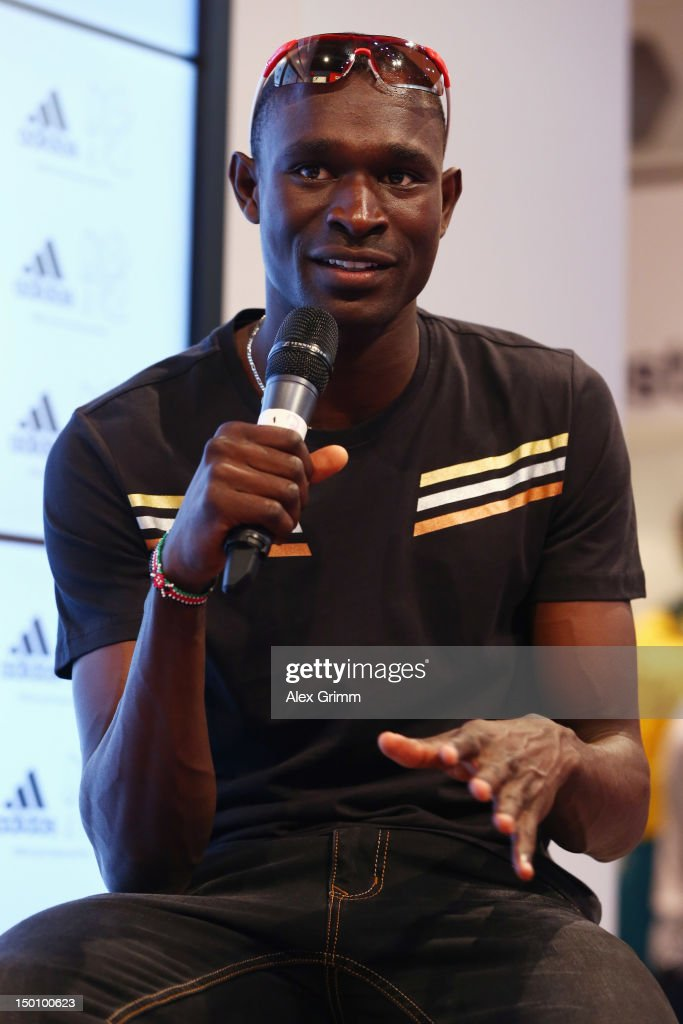 <a gi-track='captionPersonalityLinkClicked' href=/galleries/search?phrase=David+Rudisha&family=editorial&specificpeople=4398785 ng-click='$event.stopPropagation()'>David Rudisha</a> of Kenya at the adidas Olympic Media Lounge at Westfield Stratford City on August 10, 2012 in London, England.
