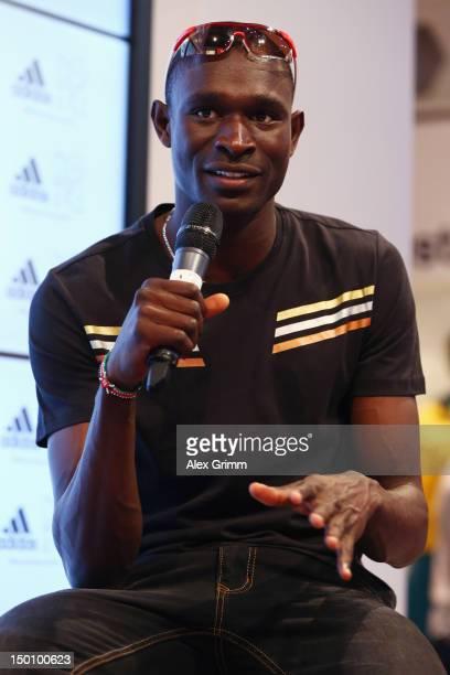 David Rudisha of Kenya at the adidas Olympic Media Lounge at Westfield Stratford City on August 10 2012 in London England