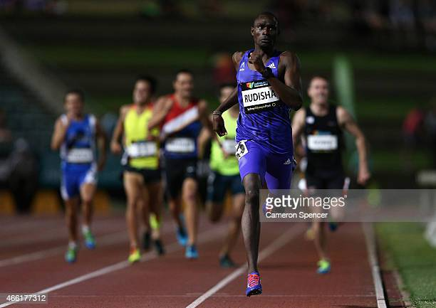 David Rudisha of Kenya competes in the mens 800m during the Sydney Track Classic at Sydney Olympic Park on March 14 2015 in Sydney Australia