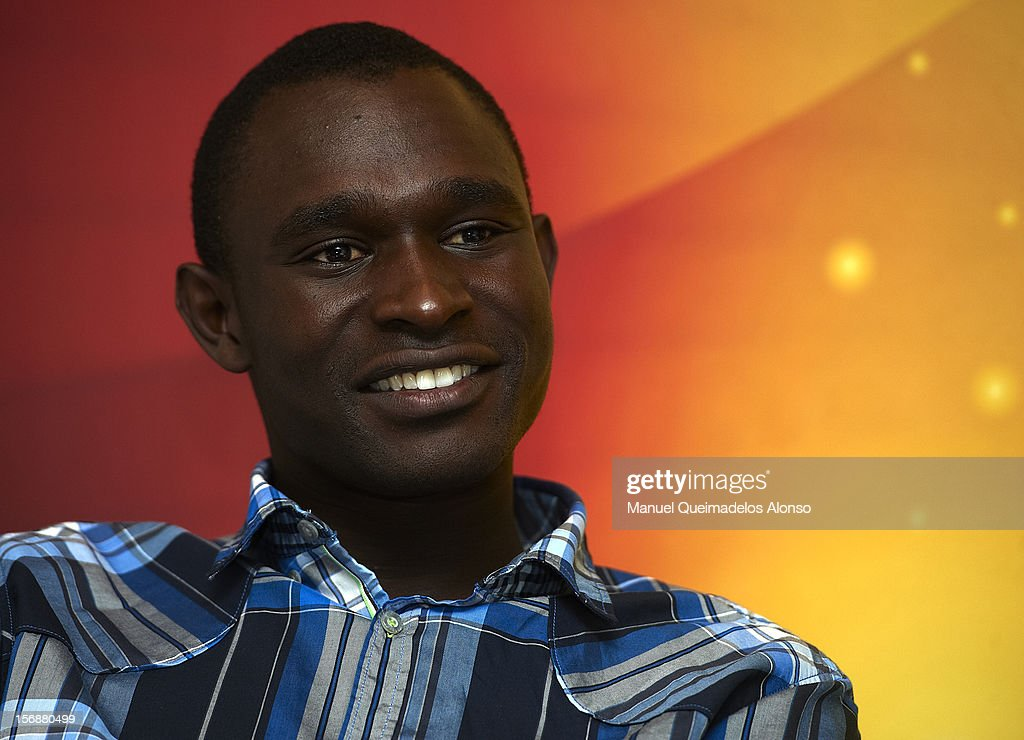 David Rudisha of Kenya in press conference during the preview day of the IAAF athlete of the year award at the IAAF Centenary Gala on November 23, 2012 in Barcelona, Spain.