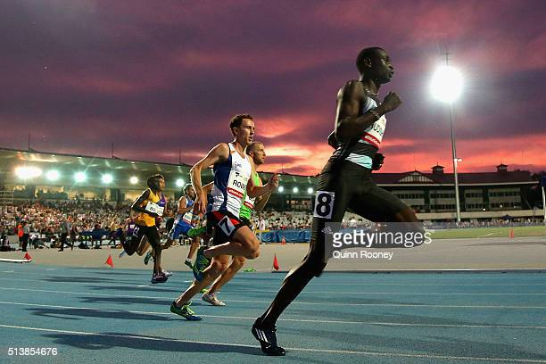 David Rudisha of Kenya runs in the Men's 800 Metres during the IAAF World Challenge at Olympic Park on March 5 2016 in Melbourne Australia