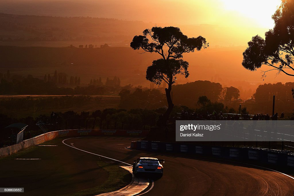 David Russell drives the #31 Mobil 1, Naim Audio & Breitling Bentley Continentail GT3 during the Bathurst 12 Hour Race at Mount Panorama on February 7, 2016 in Bathurst, Australia.
