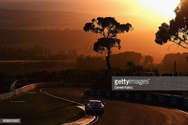 David Russell drives the Mobil 1 Naim Audio Breitling Bentley Continentail GT3 during the Bathurst 12 Hour Race at Mount Panorama on February 7 2016...