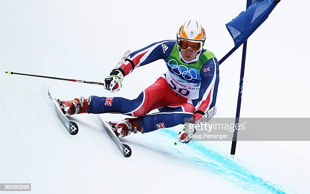 David Ryding of Great Britain and Northern Ireland competes during the Alpine Skiing Men's Giant Slalom on day 12 of the Vancouver 2010 Winter...