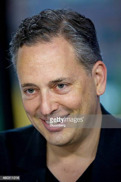 David Sacks cofounder of PayPal and chief operating officer of Zenefits smiles during a Bloomberg West television interview in San Francisco...