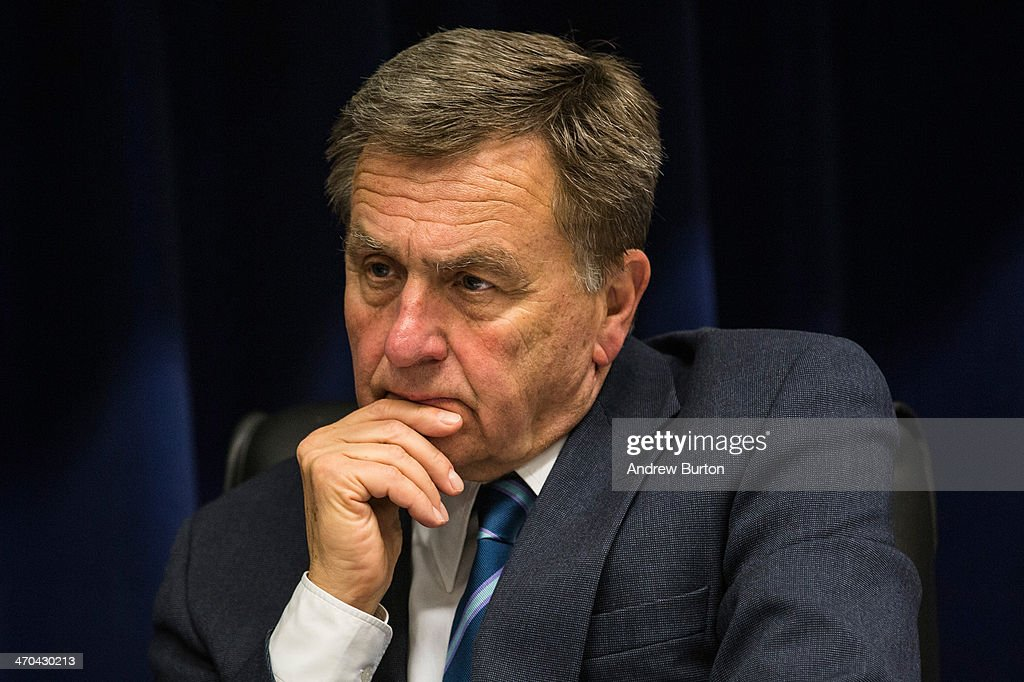 David Samson chairman of the Port Authority of New York and New Jersey listens at a board meeting in which a new 10year capital plan was announced...