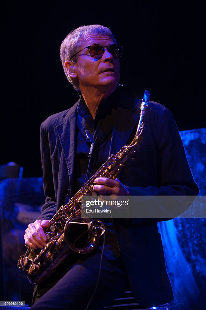 David Sanborn performs live on stage at the Cheltenham Jazz Festival on May 1, 2016 in Cheltenham, England.