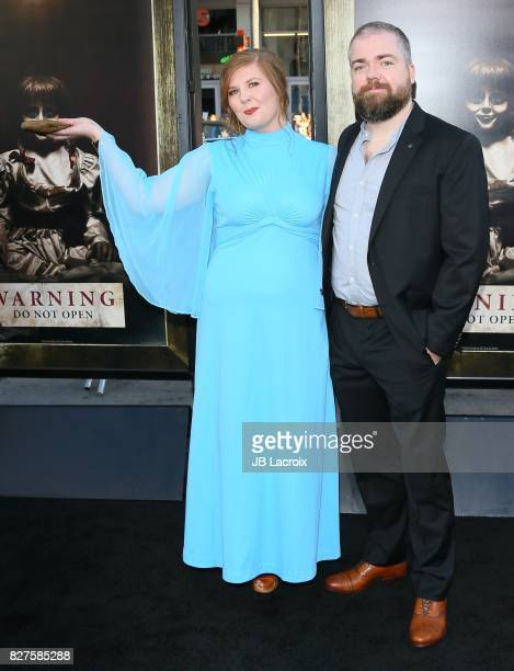 David Sandberg and Lotta Losten attend the premiere of New Line Cinema's 'Annabelle Creation' on August 07 2017 in Los Angeles California