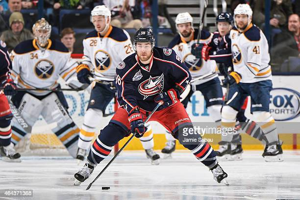 David Savard of the Columbus Blue Jackets skates against the Buffalo Sabres on February 24 2015 at Nationwide Arena in Columbus Ohio