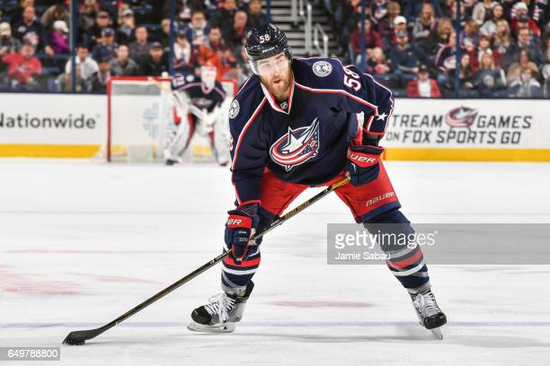 David Savard of the Columbus Blue Jackets skates against the New Jersey Devils on March 7 2017 at Nationwide Arena in Columbus Ohio