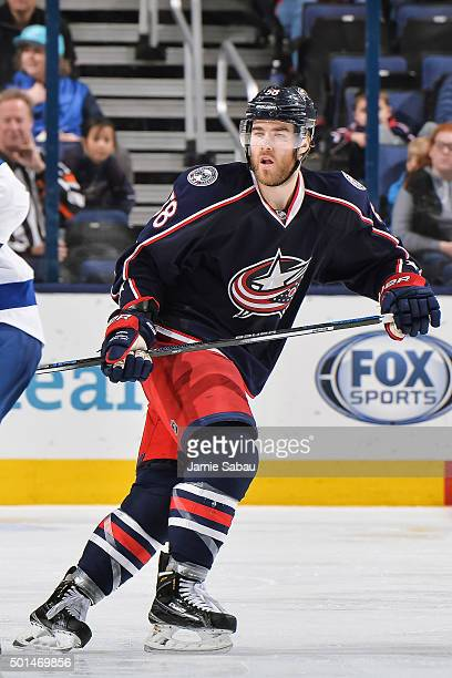 David Savard of the Columbus Blue Jackets skates against the Tampa Bay Lightning on December 14 2015 at Nationwide Arena in Columbus Ohio