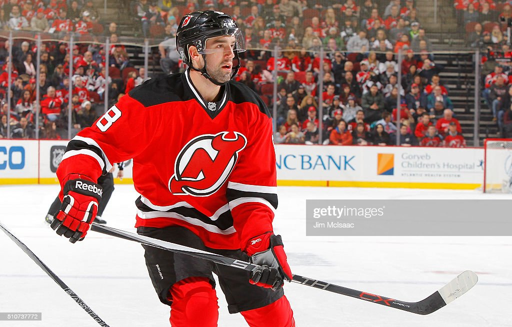 David Schlemko of the New Jersey Devils in action against the Los Angeles Kings at the Prudential Center on February 14 2016 in Newark New Jersey The...