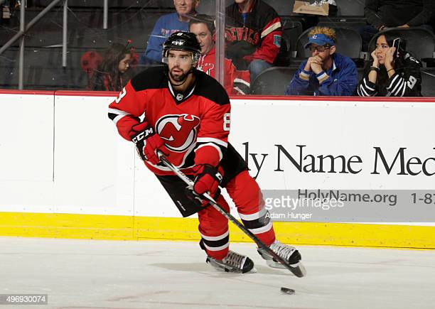 David Schlemko of the New Jersey Devils in action against the New York Islanders during the third period at the Prudential Center on October 31 2015...