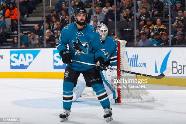 David Schlemko of the San Jose Sharks skates against the Boston Bruins at SAP Center on February 19 2017 in San Jose California