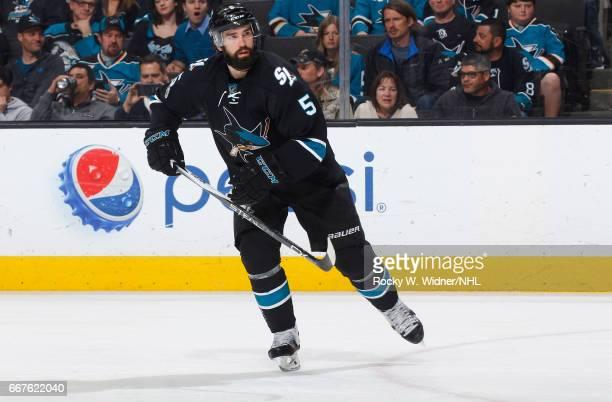 David Schlemko of the San Jose Sharks skates against the Edmonton Oilers at SAP Center on April 6 2017 in San Jose California