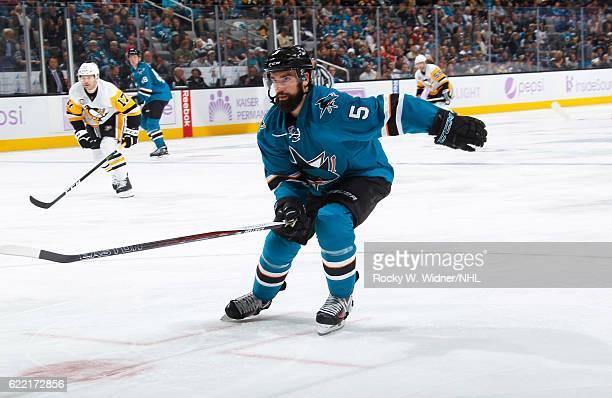 David Schlemko of the San Jose Sharks skates against the Pittsburgh Penguins at SAP Center on November 5 2016 in San Jose California